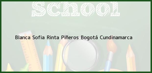 Teléfono, Dirección y otros datos de contacto para Blanca Sofia Rinta Piñeros, Bogotá, Cundinamarca, Colombia