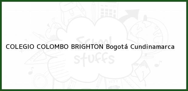 Teléfono, Dirección y otros datos de contacto para Colegio Colombo Brighton, Bogotá, Cundinamarca, Colombia