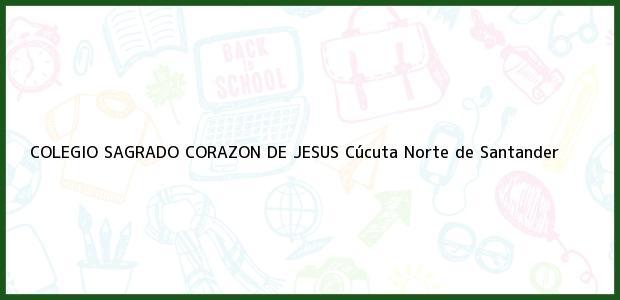 Teléfono, Dirección y otros datos de contacto para Colegio Sagrado Corazon de Jesus, Cúcuta, Norte de Santander, Colombia