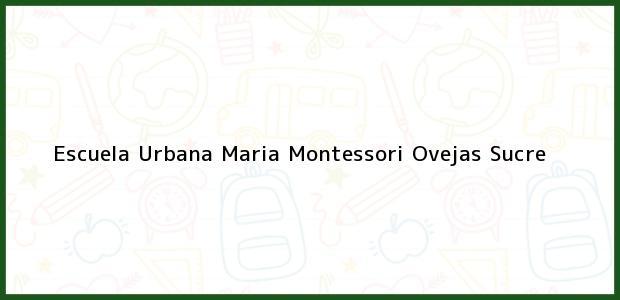 Teléfono, Dirección y otros datos de contacto para Escuela Urbana Maria Montessori, Ovejas, Sucre, Colombia