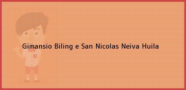 Teléfono, Dirección y otros datos de contacto para Gimansio Biling e San Nicolas, Neiva, Huila, Colombia