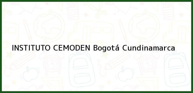 Teléfono, Dirección y otros datos de contacto para Instituto Cemoden, Bogotá, Cundinamarca, Colombia