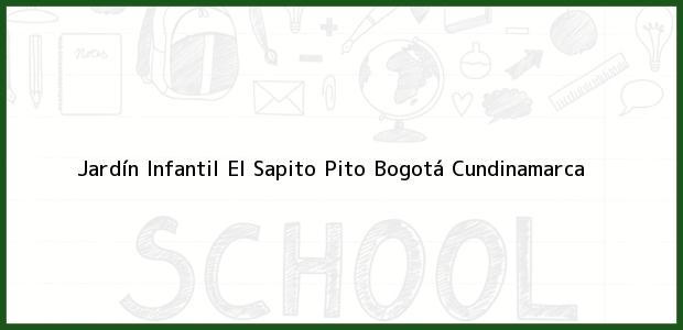 Teléfono, Dirección y otros datos de contacto para Jardín Infantil El Sapito Pito, Bogotá, Cundinamarca, Colombia