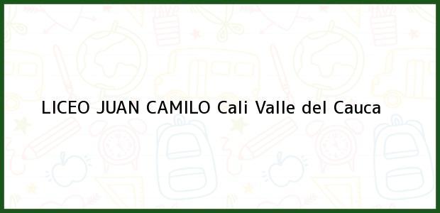 Teléfono, Dirección y otros datos de contacto para Liceo Juan Camilo, Cali, Valle del Cauca, Colombia