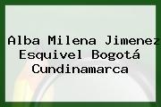 Alba Milena Jimenez Esquivel Bogotá Cundinamarca