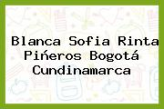 Blanca Sofia Rinta Piñeros Bogotá Cundinamarca
