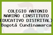 COLEGIO ANTONIO NARIÑO (INSTITUTO EDUCATIVO DISTRITAL) Bogotá Cundinamarca