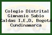 Colegio Distrital Gimnasio Sabio Caldas I.E.D. Bogotá Cundinamarca