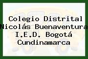 Colegio Distrital Nicolás Buenaventura I.E.D. Bogotá Cundinamarca