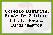 Colegio Distrital Ramón De Zubiría I.E.D. Bogotá Cundinamarca