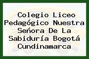 Colegio Liceo Pedagógico Nuestra Señora De La Sabiduría Bogotá Cundinamarca