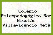 COLEGIO PSICOPEDAGOGICO SAN NICOLAS Villavicencio Meta
