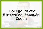 Colego Mixto Sintrafec Popayán Cauca