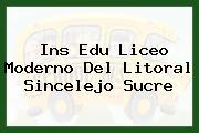 Ins Edu Liceo Moderno Del Litoral Sincelejo Sucre