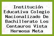 Institución Educativa Colegio Nacionalizado De Bachillerato Los Centauros Vista Hermosa Meta