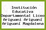 Institución Educativa Departamental Liceo Ariguani Ariguaní Ariguaní Magdalena