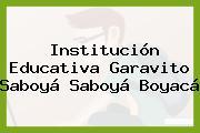 Institución Educativa Garavito Saboyá Saboyá Boyacá