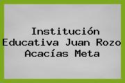 Institución Educativa Juan Rozo Acacías Meta