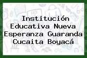 Institución Educativa Nueva Esperanza Guaranda Cucaita Boyacá