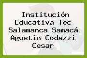 Institución Educativa Tec Salamanca Samacá Agustín Codazzi Cesar