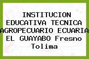 INSTITUCION EDUCATIVA TECNICA AGROPECUARIO ECUARIA EL GUAYABO Fresno Tolima