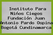 Instituto Para Niños Ciegos Fundación Juan Antonio Pardo Ospina Bogotá Cundinamarca