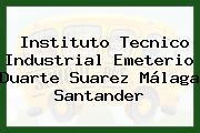 Instituto Tecnico Industrial Emeterio Duarte Suarez Málaga Santander