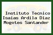 Instituto Tecnico Isaias Ardila Diaz Mogotes Santander