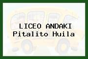 LICEO ANDAKI Pitalito Huila