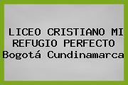 Liceo Cristiano Mi Refugio Perfecto Bogotá Cundinamarca