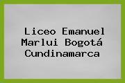 Liceo Emanuel Marlui Bogotá Cundinamarca