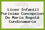 Liceo Infantil Purisima Concepcion De Maria Bogotá Cundinamarca