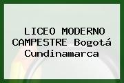 Liceo Moderno Campestre Bogotá Cundinamarca