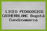 Liceo Pedagogico Catherblanc Bogotá Cundinamarca