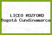 Liceo Rozford Bogotá Cundinamarca
