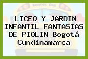 Liceo Y Jardin Infantil Fantasias De Piolin Bogotá Cundinamarca