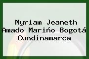 Myriam Jeaneth Amado Mariño Bogotá Cundinamarca
