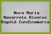 Nora Maria Navarrete Riveros Bogotá Cundinamarca