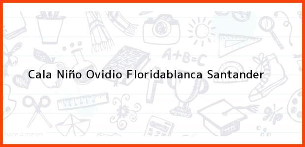 Teléfono, Dirección y otros datos de contacto para Cala Niño Ovidio, Floridablanca, Santander, Colombia