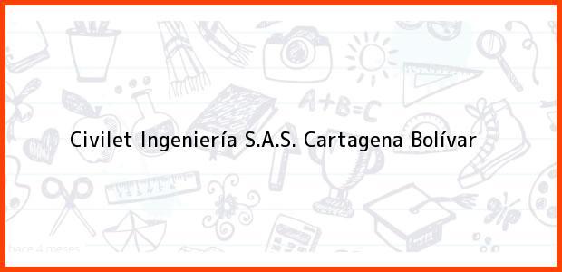 Teléfono, Dirección y otros datos de contacto para Civilet Ingeniería S.A.S., Cartagena, Bolívar, Colombia