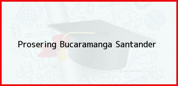 Teléfono, Dirección y otros datos de contacto para Prosering, Bucaramanga, Santander, Colombia