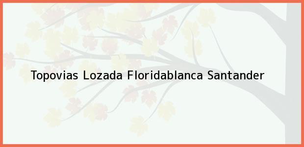 Teléfono, Dirección y otros datos de contacto para Topovias Lozada, Floridablanca, Santander, Colombia