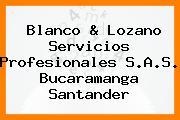 Blanco & Lozano Servicios Profesionales S.A.S. Bucaramanga Santander