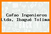 Cafao Ingenieros Ltda. Ibagué Tolima