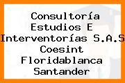 Consultoría Estudios E Interventorías S.A.S Coesint Floridablanca Santander
