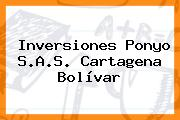 Inversiones Ponyo S.A.S. Cartagena Bolívar